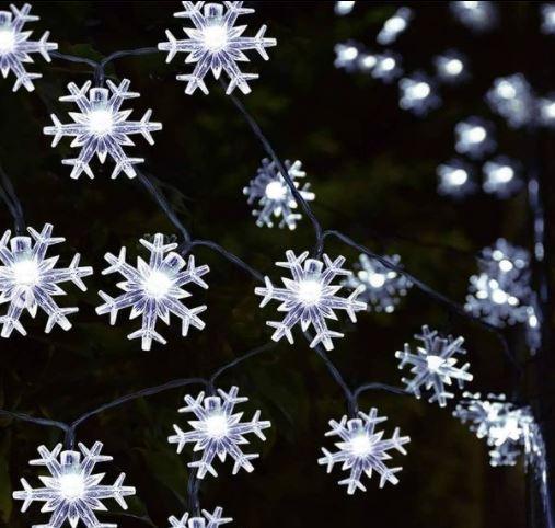 ریسه دانه برفی کریستالی سفید