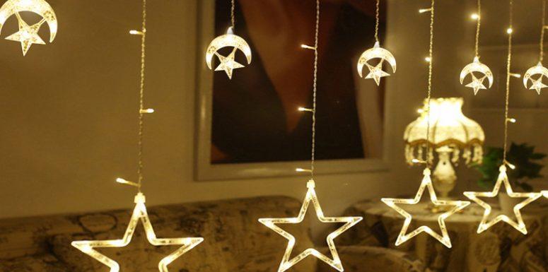 ریسه ال ای دی پرده ماه و ستاره