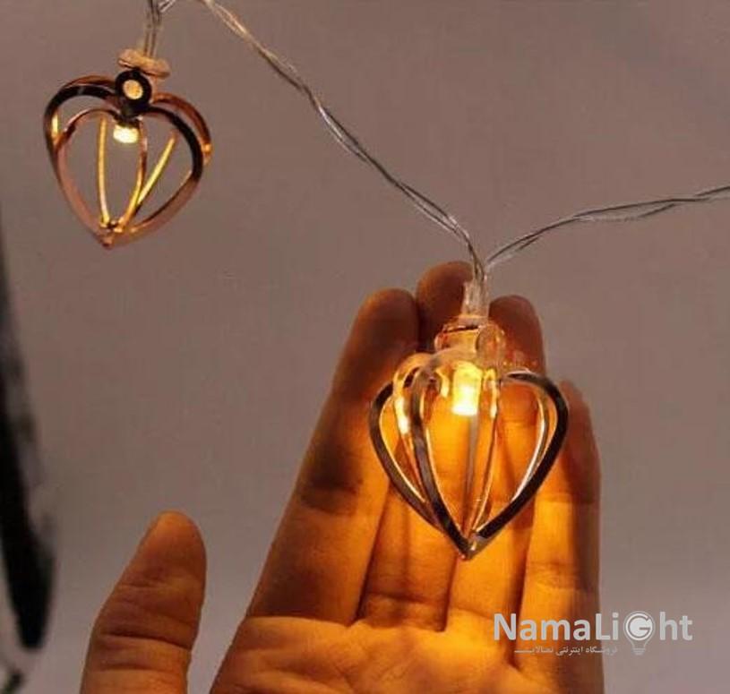 ریسه قلب فلزی 8 وجهی